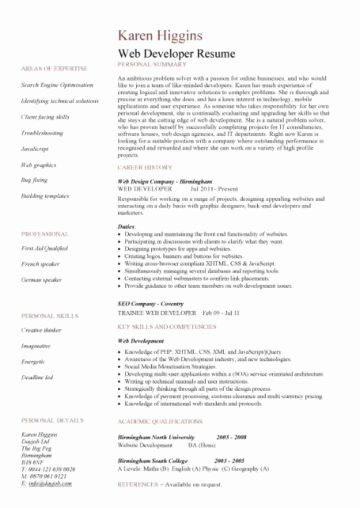 web developer resume examples 1118