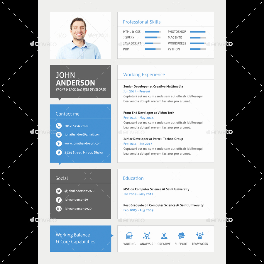 Web Developer Resume Template Inspirational 30 Best Developer software Engineer Resume Templates