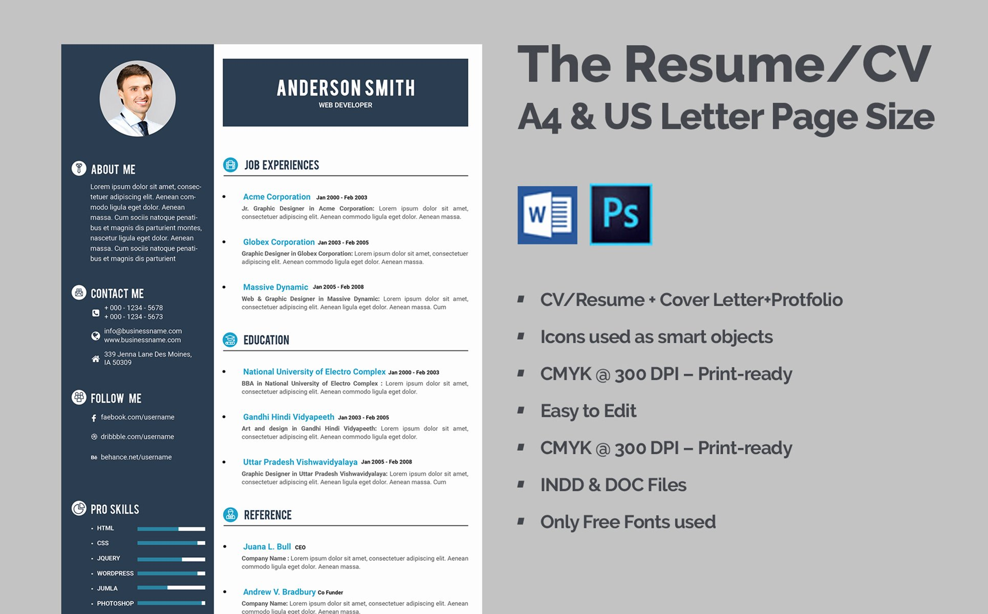 Web Developer Resume Template Luxury Web Developer Cv Resume Template