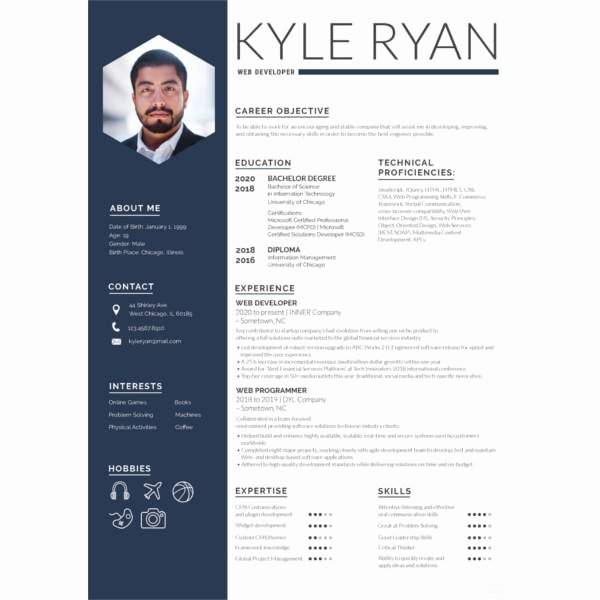 Web Developer Resume Template Unique 11 Web Developer Resume Templates Doc Pdf