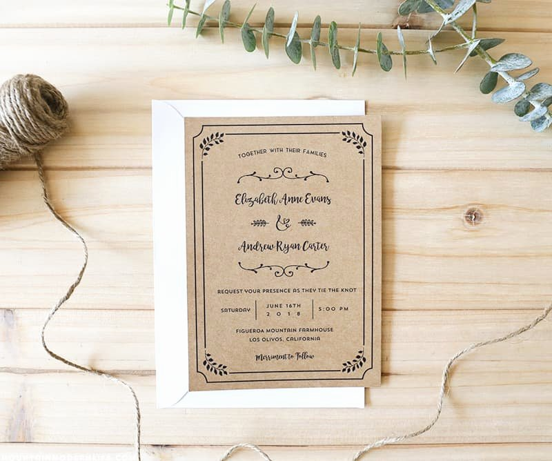 Wedding Invitation Templates Free Awesome Free Printable Wedding Invitation Template