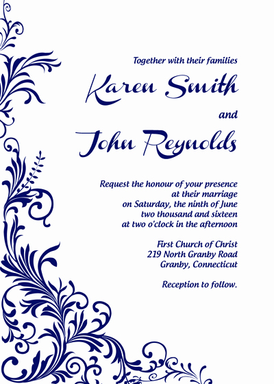 Wedding Invitation Templates Free Best Of Free Pdf Download Foliage Border Wedding Invitation