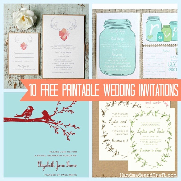 Wedding Invitation Templates Free Elegant 10 Free Printable Wedding Invitations Diy Wedding