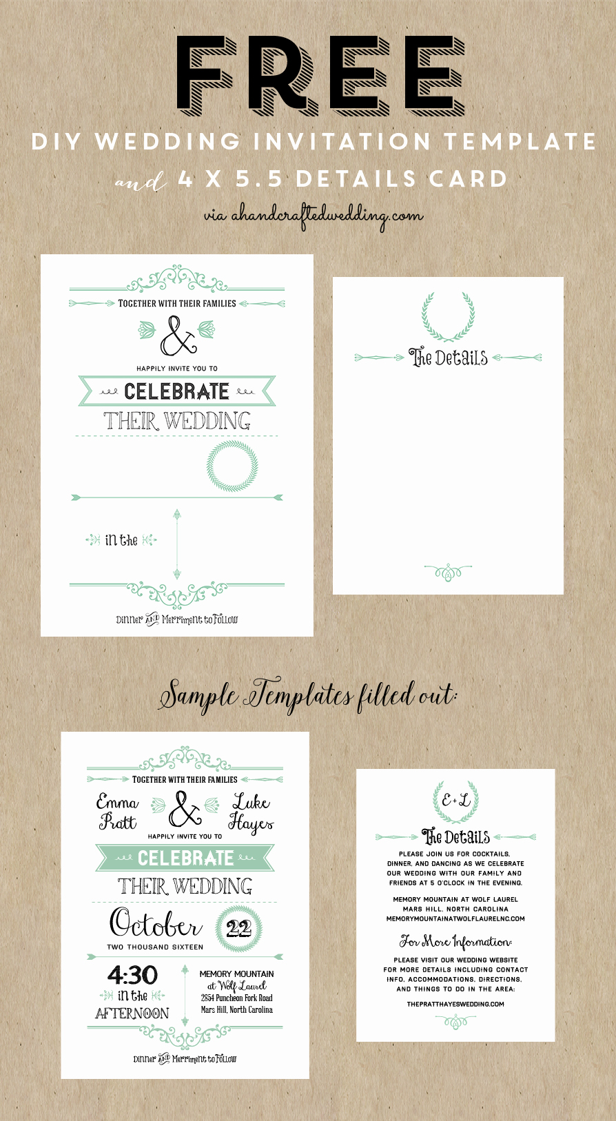 Wedding Invitation Templates Free Fresh Best 25 Free Wedding Invitation Templates Ideas On