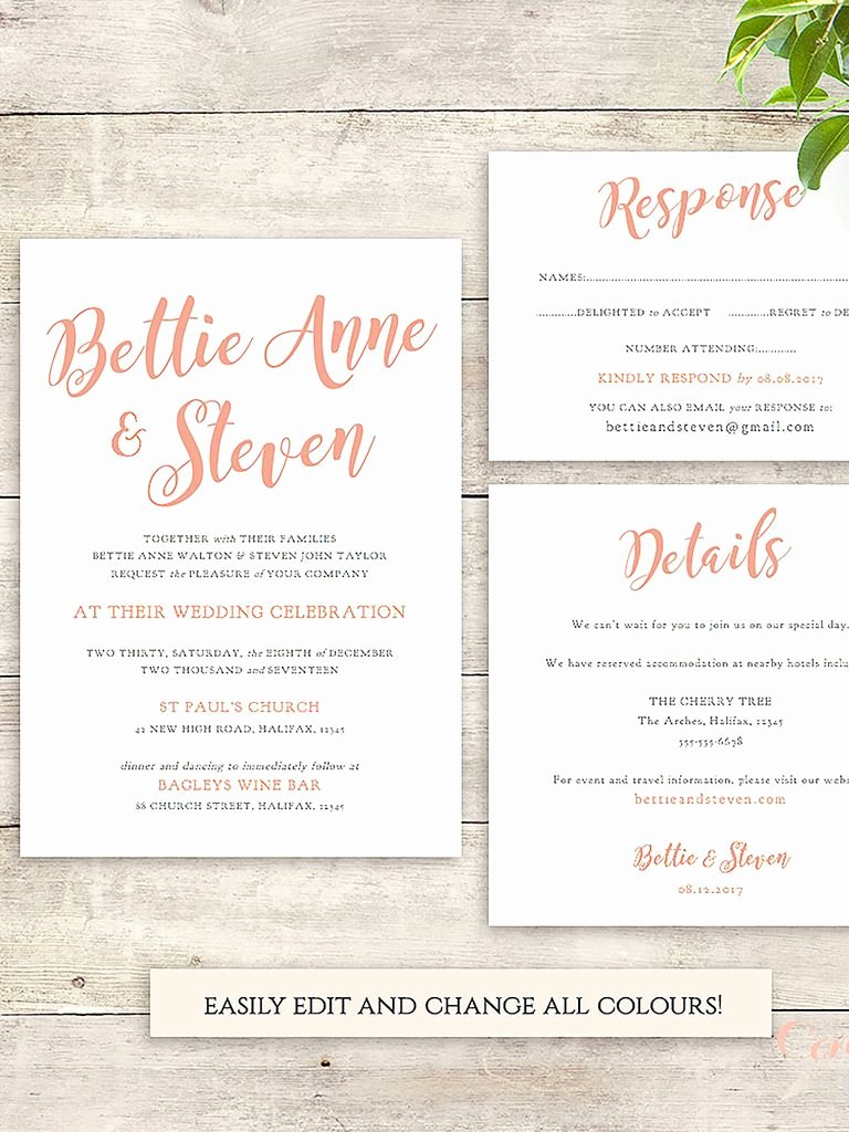 Wedding Invitation Templates Free Lovely 16 Printable Wedding Invitation Templates You Can Diy