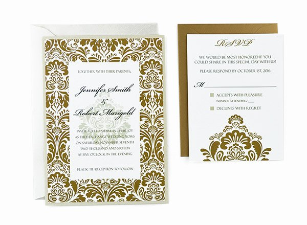 Wedding Invitation Templates Free Lovely Damask Free Wedding Invitation Template