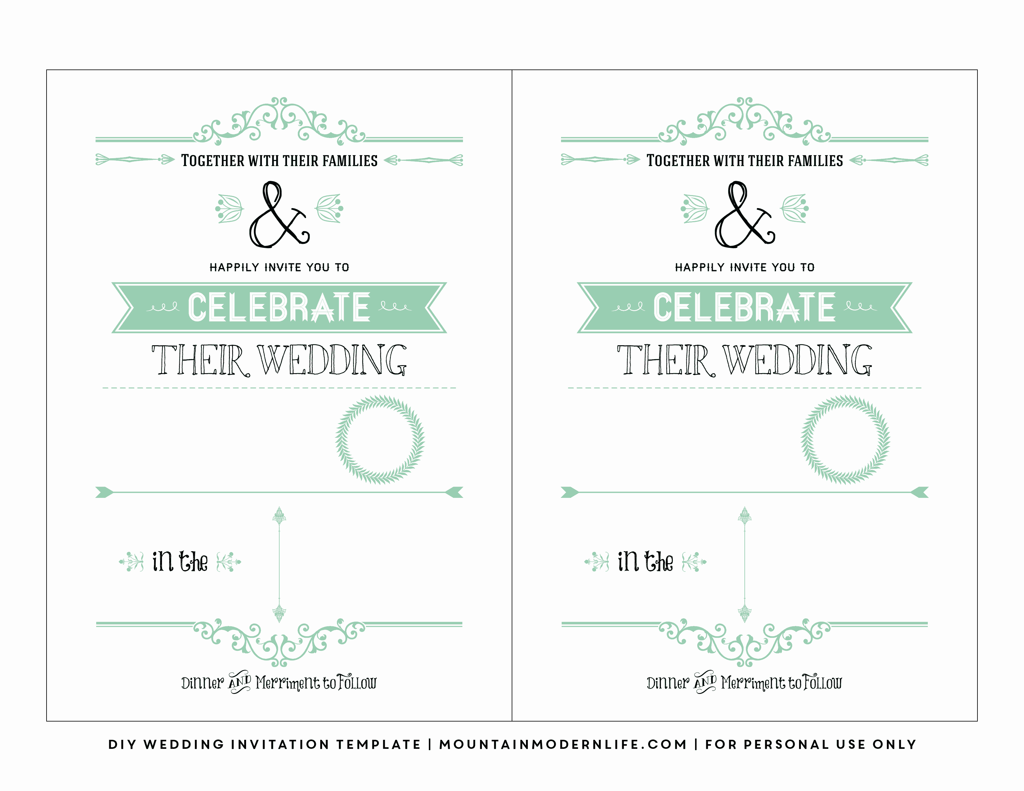 Wedding Invitation Templates Free Lovely Free Wedding Invitation Template