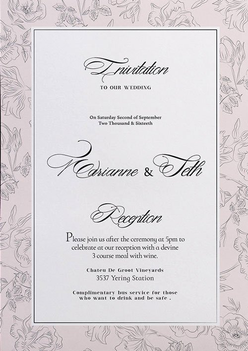Wedding Invitation Templates Free New Free Wedding Invitation Flyer Template Download for