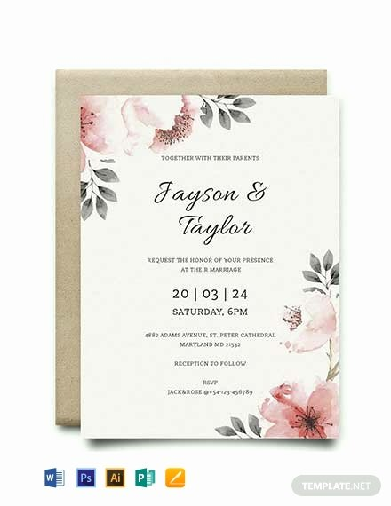 Wedding Invitation Templates Free Unique Free Vintage Wedding Invitation Template Word