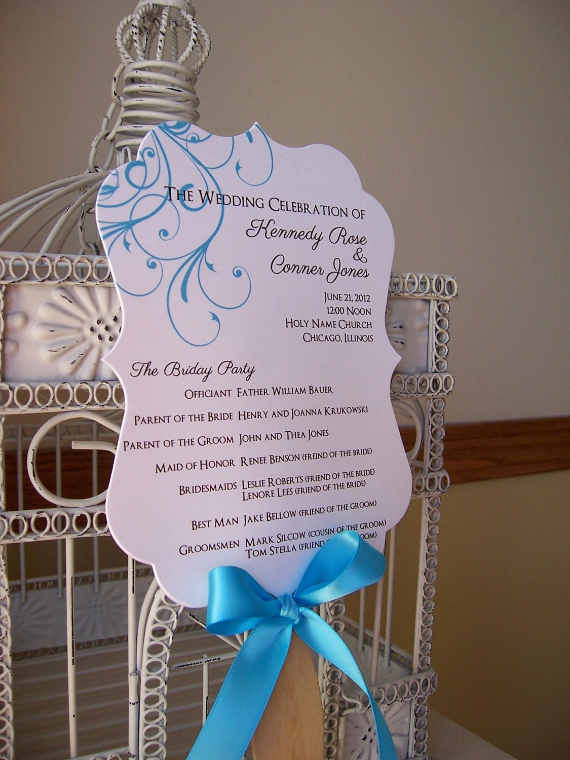Wedding Program Fans Template Awesome Fan Wedding Program with Scalloped Paddle Custom Colors and