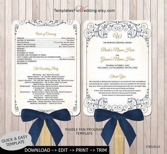 Wedding Program Fans Template Best Of 40 Best Images About Wedding Program Fans On Pinterest