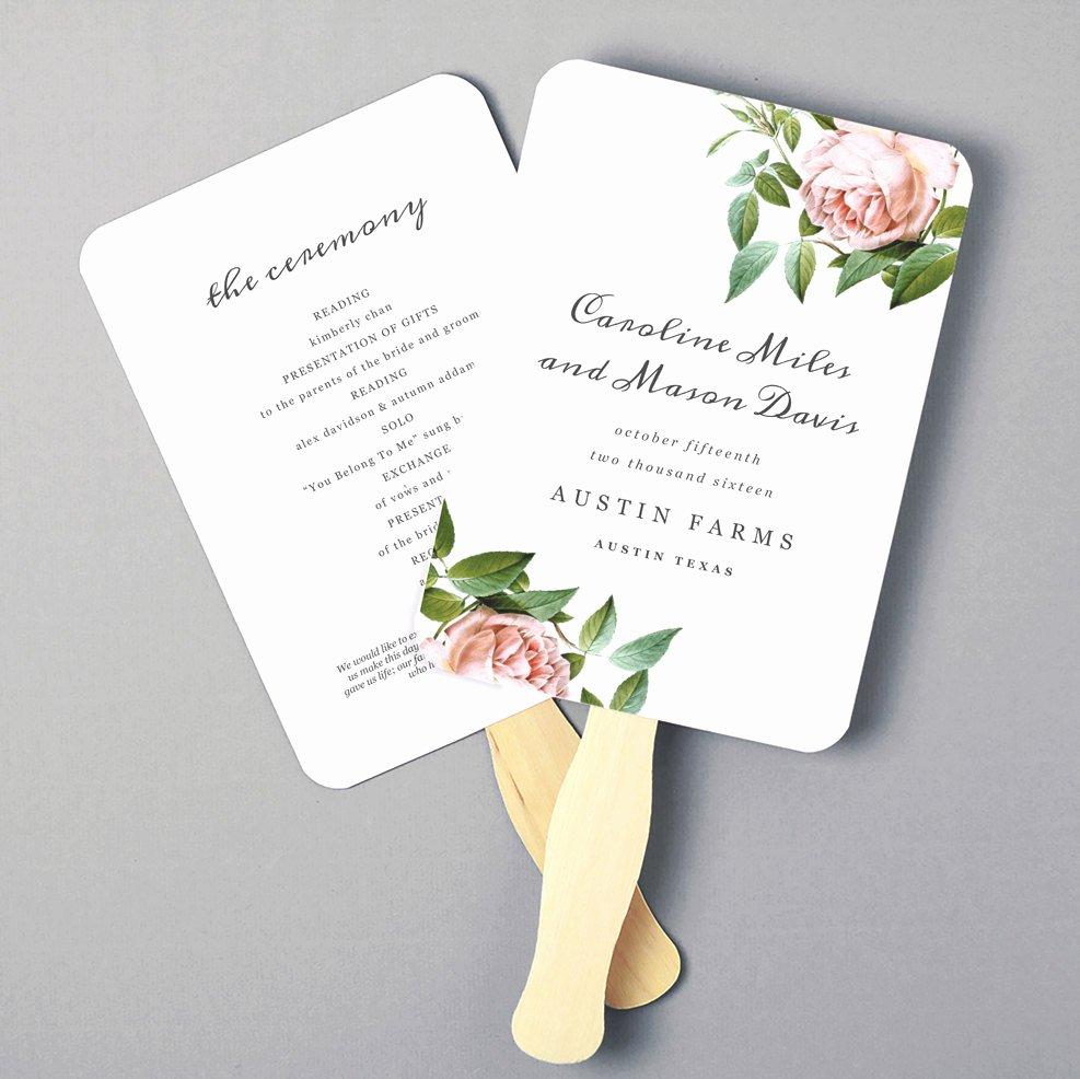 Wedding Program Fans Template Best Of Printable Fan Program Fan Program Template Wedding Fan