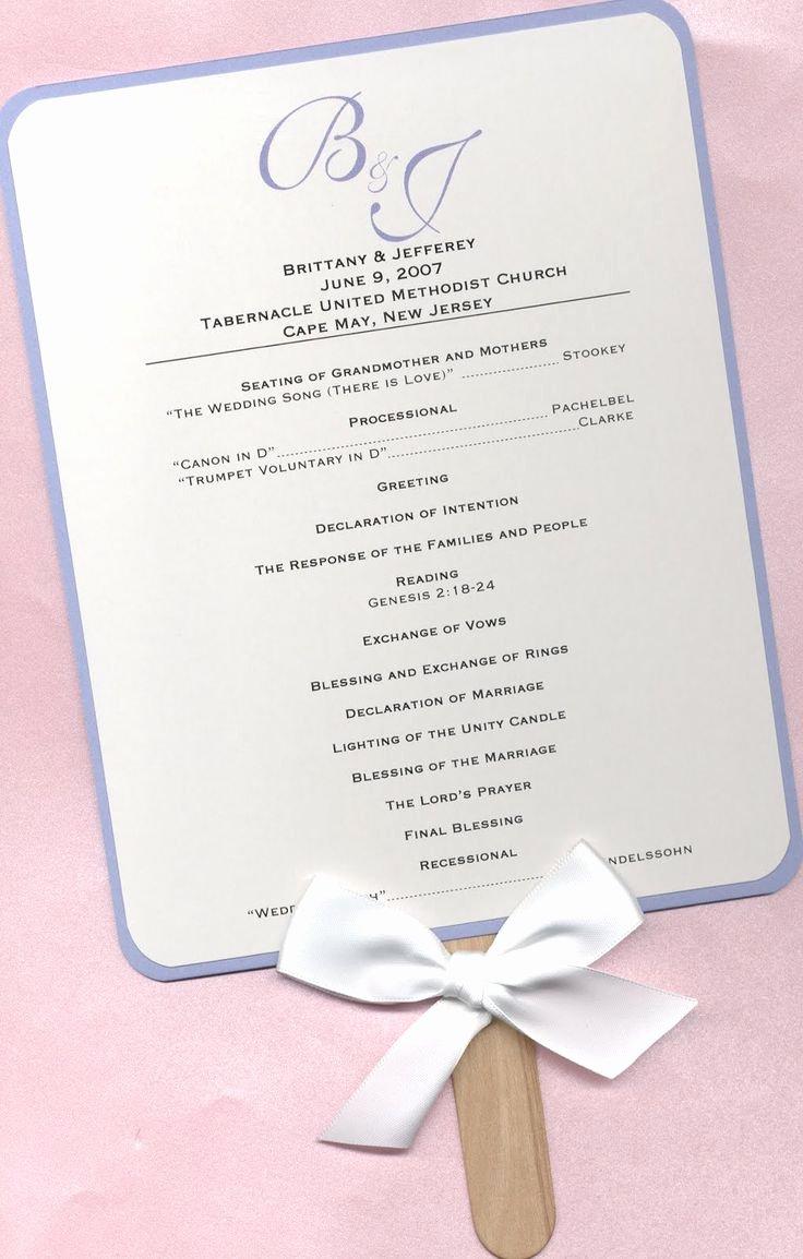 Wedding Program Fans Template Fresh Best 25 Wedding Program Templates Ideas On Pinterest