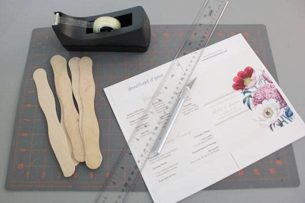 Wedding Program Fans Template Inspirational Diy Pretty Blooms Wedding Program Paddle Fan