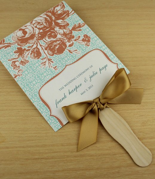 Wedding Program Fans Template Luxury Paddle Fan Wedding Program Template – Vintage Floral