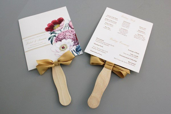 Wedding Program Fans Template New A Round Up Of Free Wedding Fan Programs B Lovely events