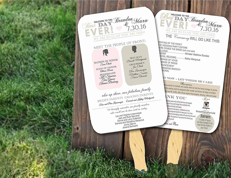 Wedding Program Fans Template New top 10 Best Wedding Programs to Buy Line