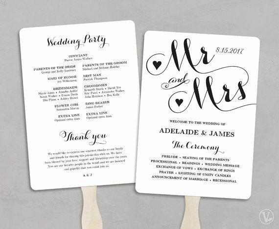 Wedding Program Fans Template New Wedding Fans Printable Wedding Fan Program Template Fan