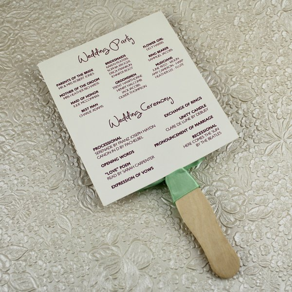 Wedding Program Fans Template New Wedding Program Paddle Fan Template – Matelasse Design