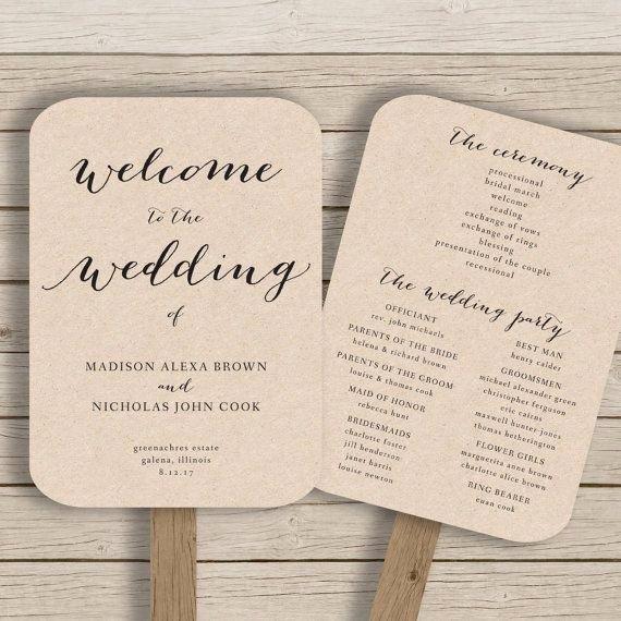 Wedding Program Fans Template Unique 25 Best Ideas About Fan Wedding Programs On Pinterest
