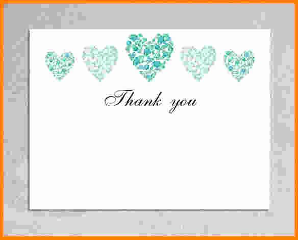 Wedding Thank You Card Template Awesome 5 Thank You Card Template