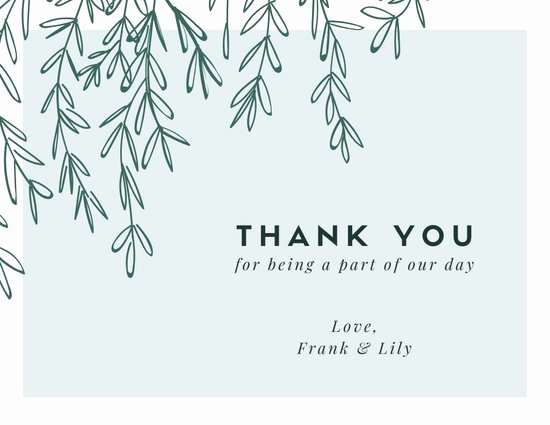 Wedding Thank You Card Template Awesome Customize 394 Thank You Card Templates Online Canva