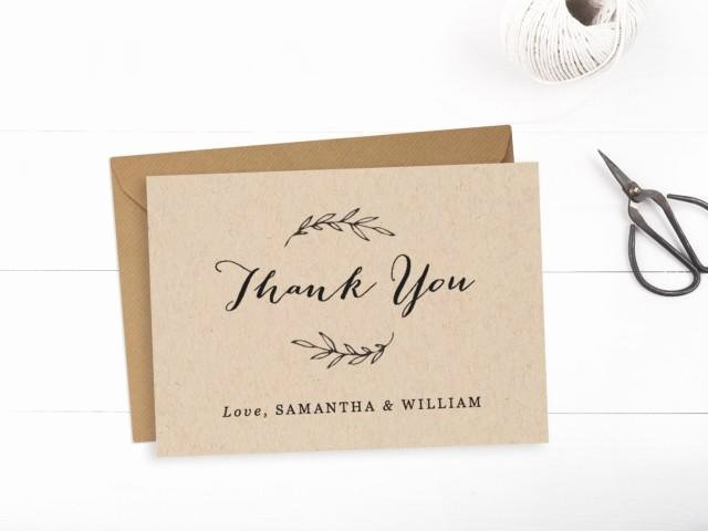Wedding Thank You Card Template Beautiful Printable Wedding Thank You Card Template Editable Text