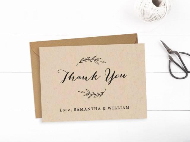 Wedding Thank You Card Template Beautiful Printable Wedding Thank You Card Template Editable Text