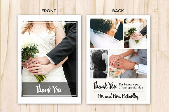 Wedding Thank You Card Template Beautiful Wedding Thank You Card Template Flyer Templates