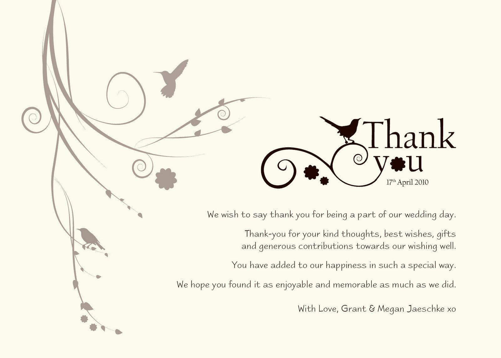 "Wedding Thank You Card Template Best Of Damsel Design Wedding ""thank You"" Cards"
