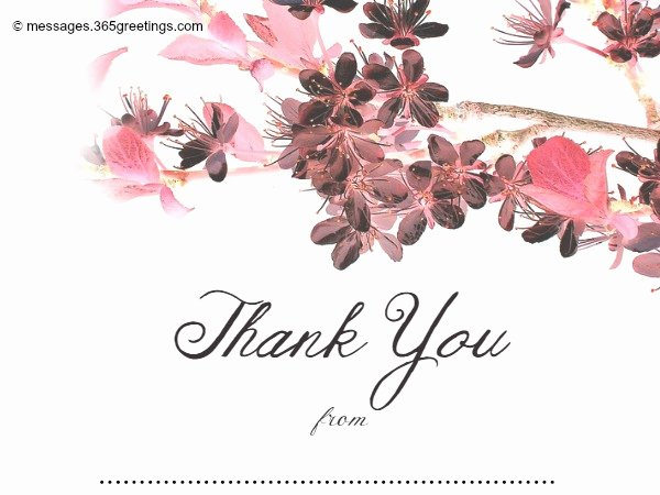 Wedding Thank You Card Template Best Of Wedding Thank You Messages 365greetings