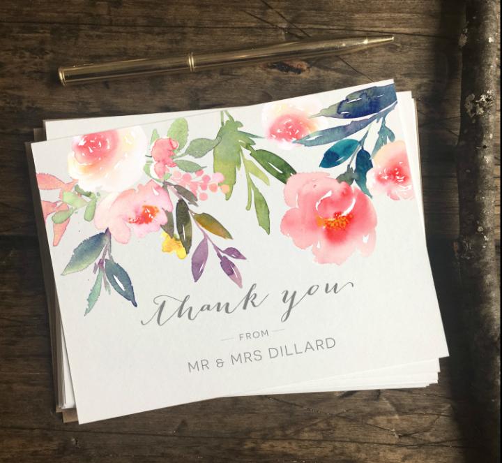 Wedding Thank You Card Template Elegant 15 Cool Wedding Thank You Card Designs & Templates Psd