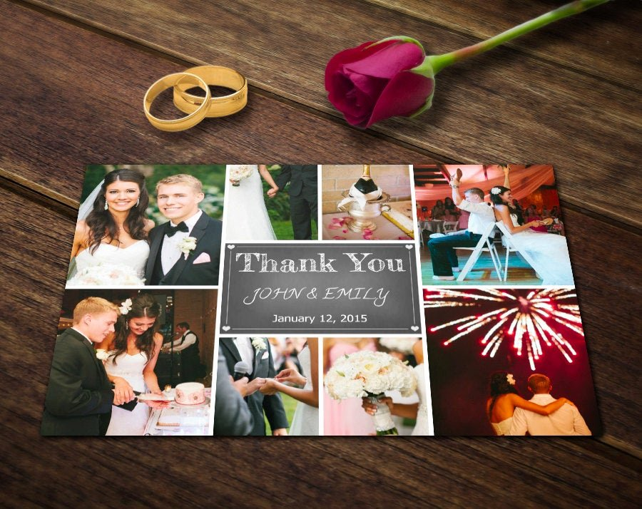 Wedding Thank You Card Template Fresh Wedding Thank You Card Template Shop Templates