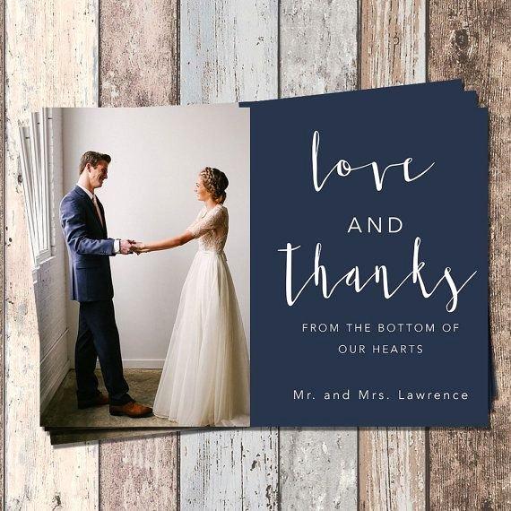 Wedding Thank You Card Template Fresh Wedding Thank You Card Wedding Bridal Thank You Card Piy