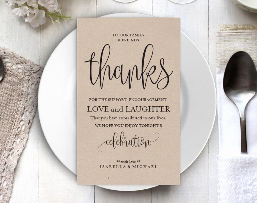 Wedding Thank You Card Template Fresh Wedding Thank You Printable Template Thank You Card