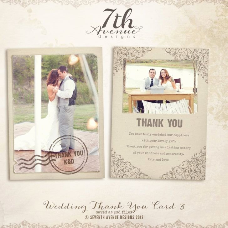 Wedding Thank You Card Template Inspirational 1000 Ideas About Thank You Card Template On Pinterest
