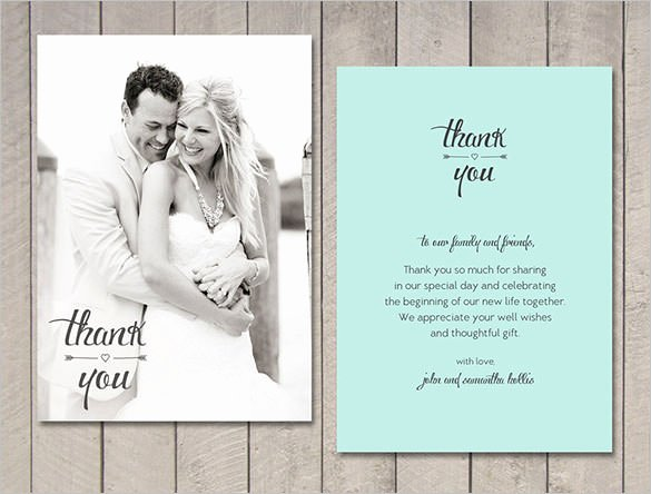 Wedding Thank You Card Template Inspirational 21 Wedding Thank You Cards – Free Printable Psd Eps