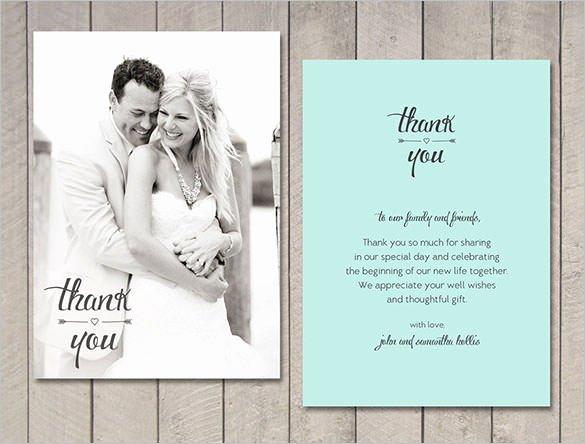 Wedding Thank You Card Template Inspirational 21 Wedding Thank You Cards – Free Printable Psd Eps