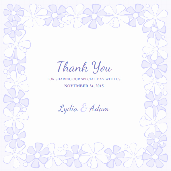 Wedding Thank You Card Template Inspirational Wedding Thank You Cards Archives Superdazzle Custom