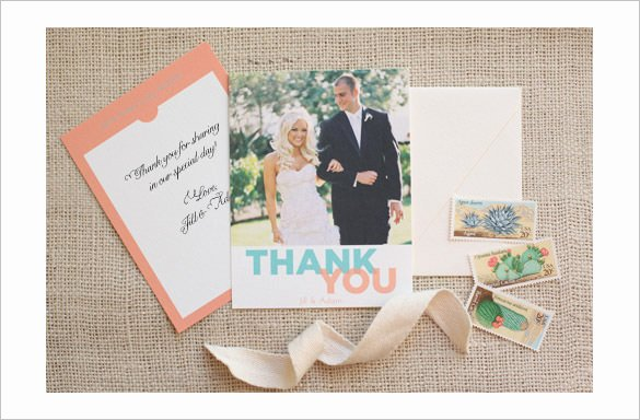 Wedding Thank You Card Template Lovely 18 Graphy Thank You Cards Psd Ai