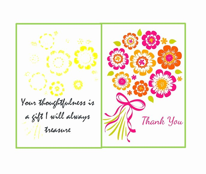 Wedding Thank You Card Template Lovely 30 Free Printable Thank You Card Templates Wedding