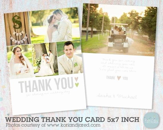 Wedding Thank You Card Template Lovely Wedding Thank You Card Shop Template Aw002 Instant