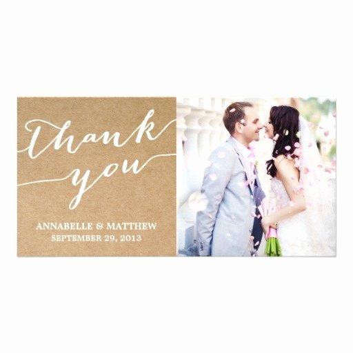 Wedding Thank You Card Template Luxury Modern Calligraphy