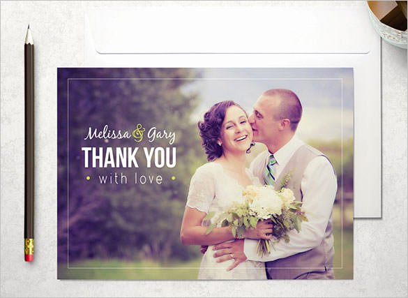 Wedding Thank You Card Template New 18 Wedding Thank You Cards Psd Ai Vector Eps