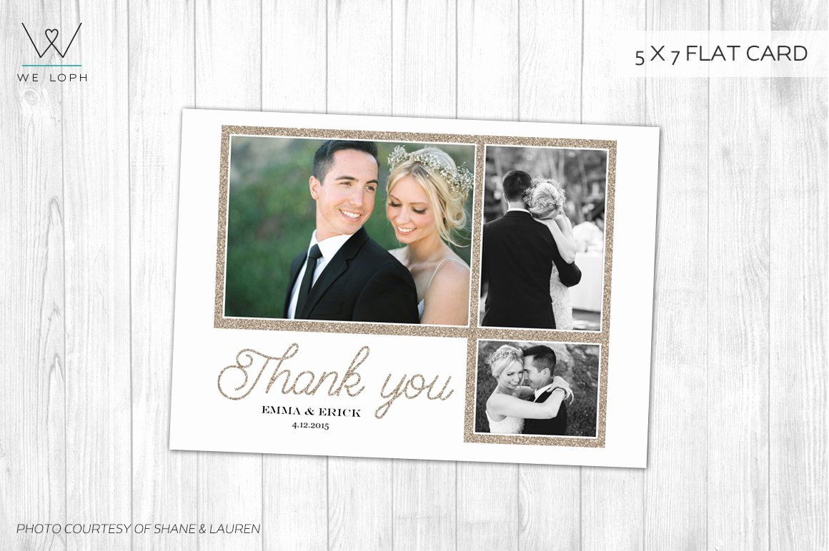 Wedding Thank You Card Template New Elegant Wedding Thank You Card Card Templates Creative