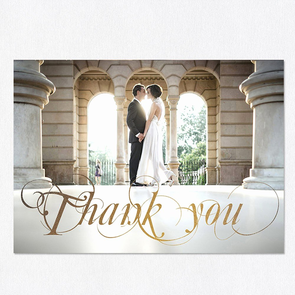 Wedding Thank You Card Template New Golden Days