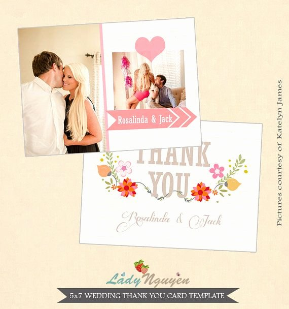 Wedding Thank You Card Template Unique 1000 Images About Wedding Thank You Templates On