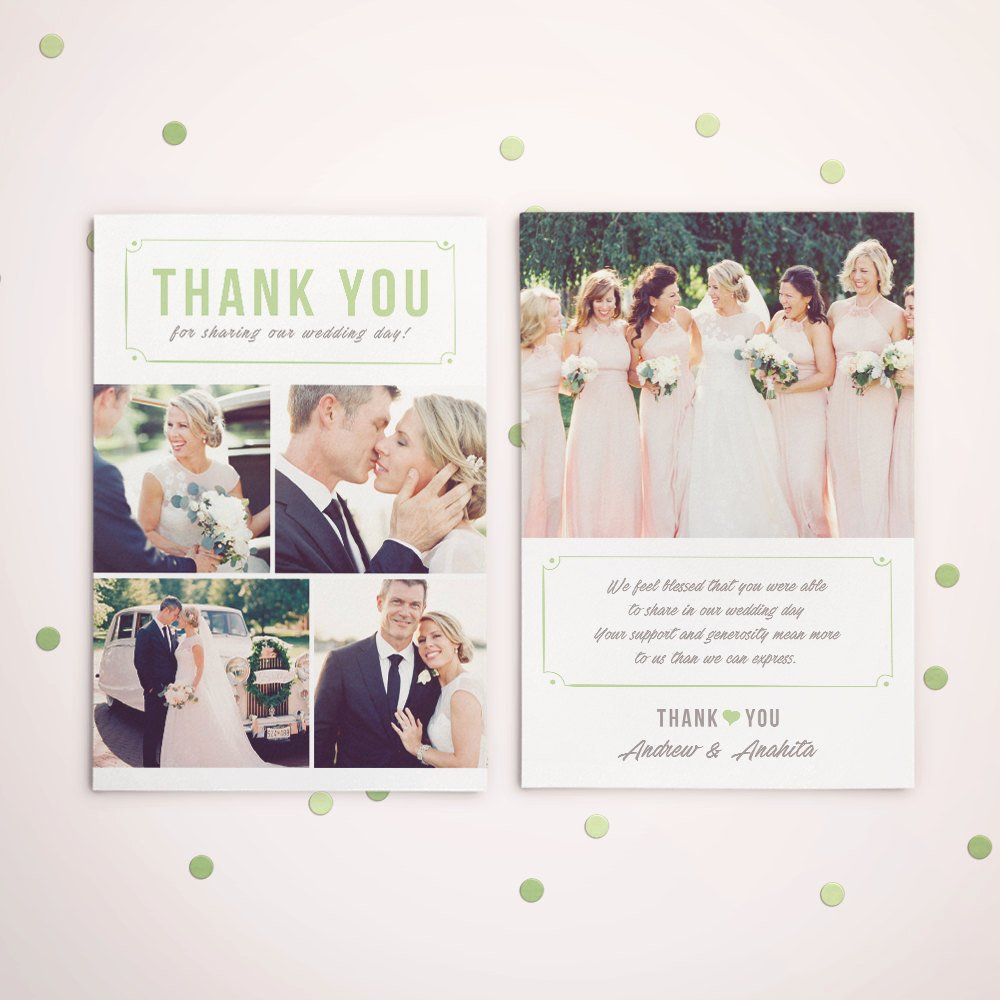 Wedding Thank You Card Template Unique Wedding Thank You Card Template for Graphers Wedding