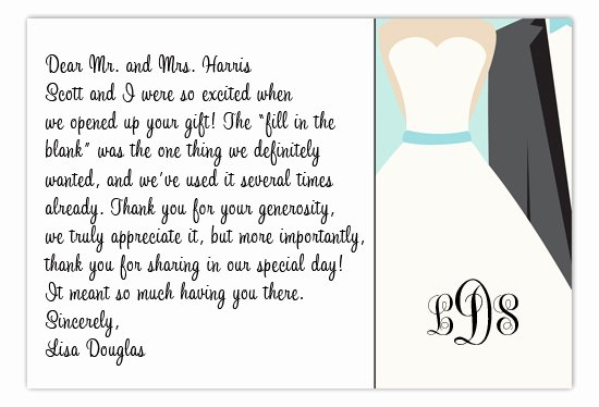Wedding Thank You Note Template Elegant Etiquette Tidbit Wedding Thank You Notes