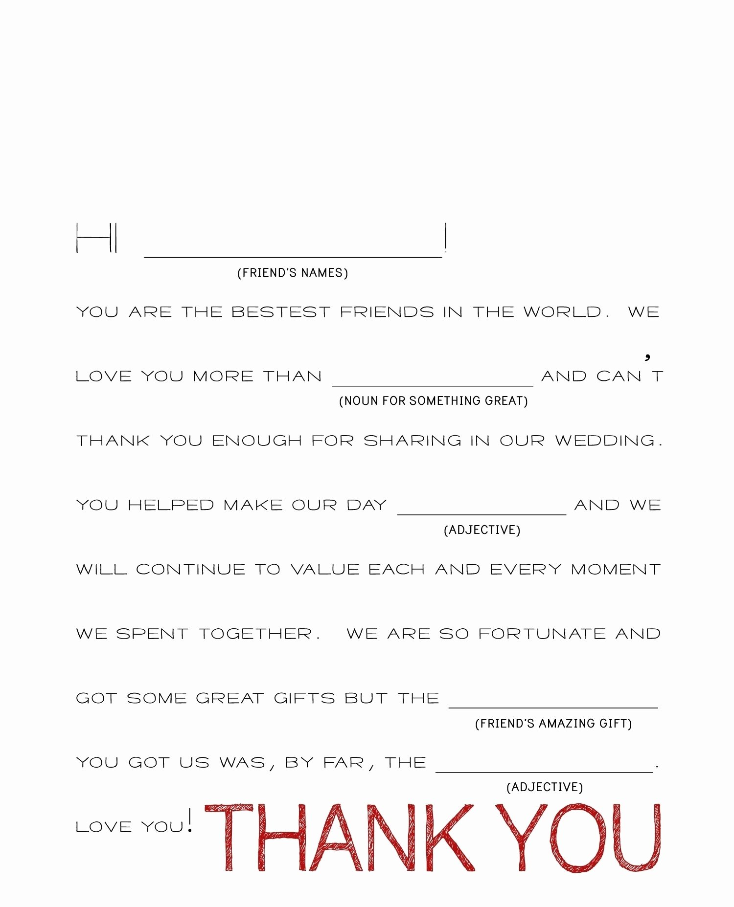 Wedding Thank You Note Template Fresh Wedding Thank You Note Template 2018